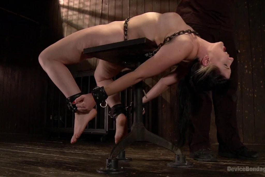 Girls fingered in hardcore bondage