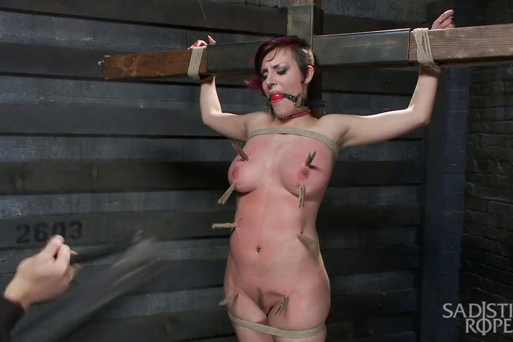 Girl Next Door Is Fastened And Tormented Like A Whore